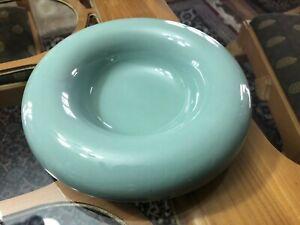 Vintage Mid Century Modern Haeger Bowl Light Green Cermaic Flange Style #5136