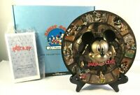 "Disney Store ""Mickey Through the Years"" 3D Relief Plate Vtg 1998 Box COA EUC"