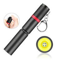 Waterproof Pocket LED Flashlight Portable Torch W/ Keychain Penlight Lamp Light
