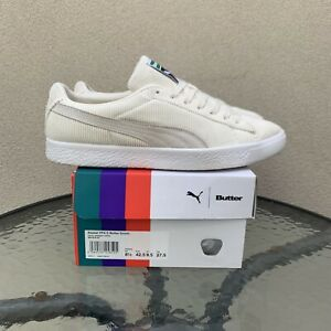 PUMA Butter Goods Basket US9 White Corduroy Suede Clyde Animal Crossing