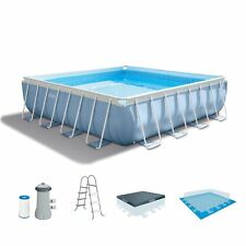 "Intex 14' x 42"" Prism Xl Frame Square Above Ground Swimming Pool Set with Pump"