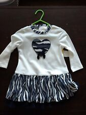 Kate Mack dress, Size 12-18 months, Navy/cream/grey, new with tags