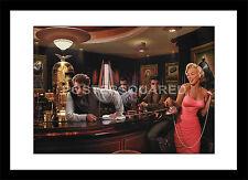 Marilyn Monroe Elvis Presley James Dean Bar Famous Framed Print Picture Poster