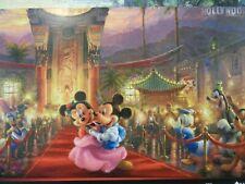 Thomas Kinkade Postcard Studio Disney Mickey & Minnie Adventure Hollywood