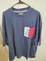 Tommy Hilfiger Denim Men's Crew Neck S/S Pocket T-Shirt Navy Size XXL NWT