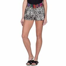 2016 NWT WOMENS VOLCOM DEEP SOUTH SHORT $50 S black pull on metal charm