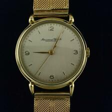 Mens Watch Genuine IWC International Co Schaffhausen 18K 750 Yellow Gold Vintage