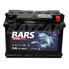 BARS SILVER 12V 75Ah Starterbatterie - Autobatterie (ersezt 70 72Ah 77Ah 80Ah)