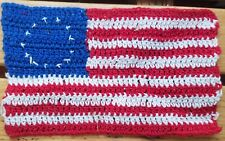 """Betsy Ross bible flag 4 x 6"""" . 1950 -1970 . 13 star American"""
