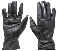 New Women's Black Winter Warm Genuine Leather Gloves w/ Fur Lined Gloves