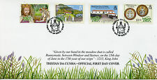 Tristan da Cunha 2015 FDC Magna Carta Octocentenary 4v Set Cover King John