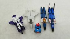 Vintage 1980s Transforming Toys 5pc Mix Lot w/ Gobots Jet, 1983 Thundercracker