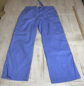Carthart Men's Ripstop Multi-Cargo Scrub Pants Blue Style C54108 Size Medium