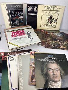 40x Klassik Schallplatten Sammlung Carl Orff EMI Decca LPs Vinyl
