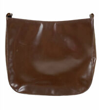 Vintage DESMO Made In Italy Brown Leather  Convertible Clutch/Purse Bag Rare