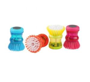 2pcs Dish Brush with Washing Up Liquid Soap Dispenser Kitchen Tool
