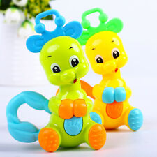 infant Teether Toy Silicone Teeth Biting Newborn Handbells Elephant deer Rattle