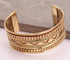 Copper Bracelet Tibetan Bio Pain Relief Pattern Magnetic Bangle  Unisex