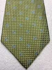 ROUNDTREE AND YORKE MENS TIE  LIGHT GREEN WITH BLUE 4 X 59