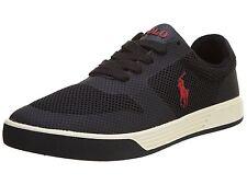 POLO RALPH LAUREN - HELLIDON -Men's Casual Shoes Sneakers -Black Mesh - Size 9 M