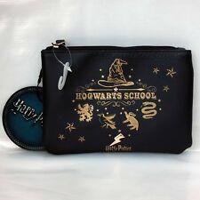 Harry Potter Hogwarts dark blue zipped  bag /purse cosmetics pouch Primark