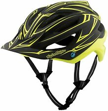 Troy Lee Designs A2 MIPS Helmet Pinstripe Black/Yellow XS/SM