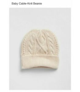 Gap Baby unisex Cable Knit Beanie Hat French Vanilla Size 12-18 Months NWT