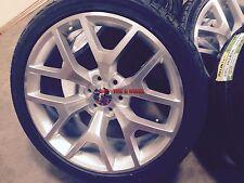 """24"""" GMC Sierra OE Style Wheels Silver Rims Denali Yukon Silverado Tahoe 26 22 28"""