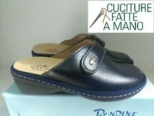"""RONDINE """"BELLISSIMA PANTOFOLA DONNA IN PELLE  COL. BLU N° 37-38 NUOVO"""""""