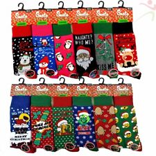 1 3 6 12 LOT Mens Ladies Festive Christmas Design Novelty Socks Womens Xmas Gift