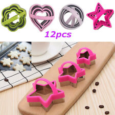 12Pcs Biscuit Cutter Set With Handle,Cookie Cutters, Unique Design Baking Tool