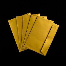 5 x Premier C5 162x229mm Envelopes Greeting Cards A5 Metallic Gold Peel & Seal