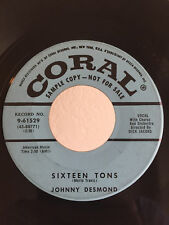 Popcorn Soul Mod PROMO 45 Johnny Desmond Sixteen Tons on Coral HEAR