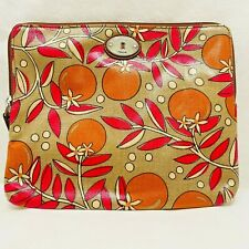 Fossil KeyPer key-per Orange Zip Case Bag Tablet iPad Kindle Pouch Travel - NEW!