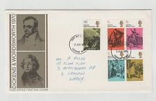 UNITED KINGDOM FIRST DAY COVER DICKENS & WORDSWORTH 1970 03/06/1970 MINT
