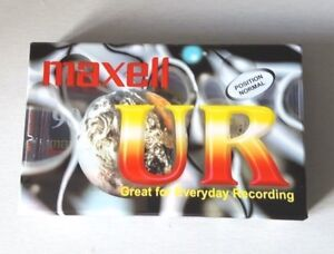 MAXELL UR 90 Single Blank Cassette Tape IEC I Type Normal Position - SEALED NEW