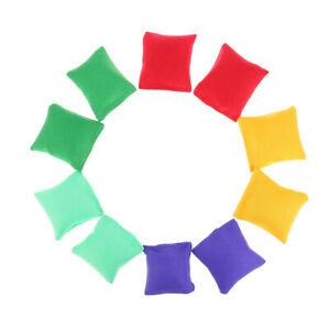 10pcs/lot Kid Throwing Sandbags Toys Classic Bean Bag Children Outdoor Sport TCA