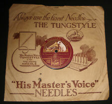"""1920s AUSSIE 10"""" 78 rpm HMV E.A.89 VICTOR MIXED CHORUS"""