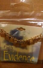 """The Lord's Prayer Bracelet Gold """"Faith is Evidence"""" Collection By Swanson New"""