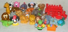 Fisher Price Little People Alphabet Zoo 32 Piece Lot Animals Zookeeper Fence
