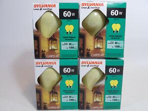 Yellow Bug Light Bulb 60W Watt Sylvania 4 Pack Outdoor Porch Non-attracting