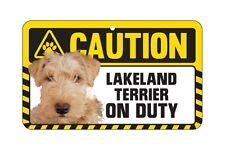 Dog Sign Caution Beware - Lakeland Terrier