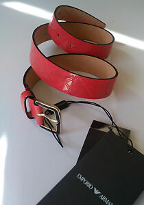 Genuine EMPORIO ARMANI Women's Belt in a Beautiful Coral Color RRP £159