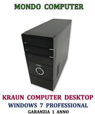 COMPUTER ASSEMBLATO KRAUN / CPU INTEL CORE 2 DUO E8400/ WINDOWS 7 PRO - LICENZA