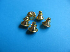 5, Twist Pin Badge Backs / Fixings / Clutch / Clasp / Clip.  GOLD Colour.