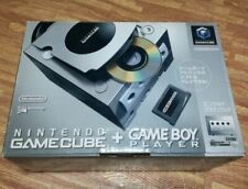 Nintendo GameCube Silver Console System + Game Boy Player Enjoy Plus Pack USED