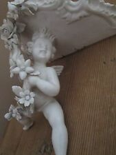 Exquisite Estate Italian Antique Porcelain Putti Sconce
