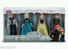 Disney Store Frozen DOLL SET ELSA ANNA KRISTOFF HANS SMALL DOLLS GIFTSET 4 PACK