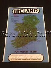Map Of Ireland & Transport System - Bus Train & Boat Map Irish Government Print