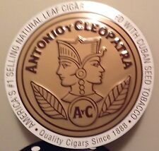 ANTONIO Y CLEOPATRA CIGAR METAL SIGN-RARE FIND- (Pre surgeon general warnings)